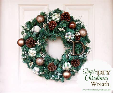 christmas wreaths diy simple diy christmas wreath tutorial love of family home