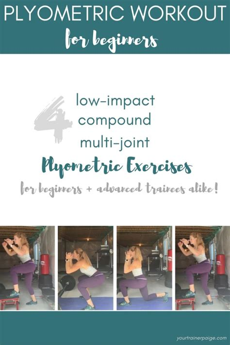 plyometric workout beginners plyometrics exercises workouts low impact plyo yourtrainerpaige routine body jumping kumpf paige includes favorite easy pilates