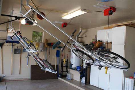 Diy Ceiling Mount Bike Lift by Motorized Bike Lift With Single Strong Racks