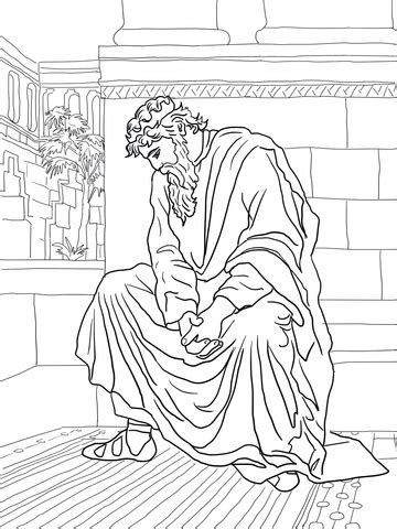 david weeping   death  absalom coloring page supercoloringcom