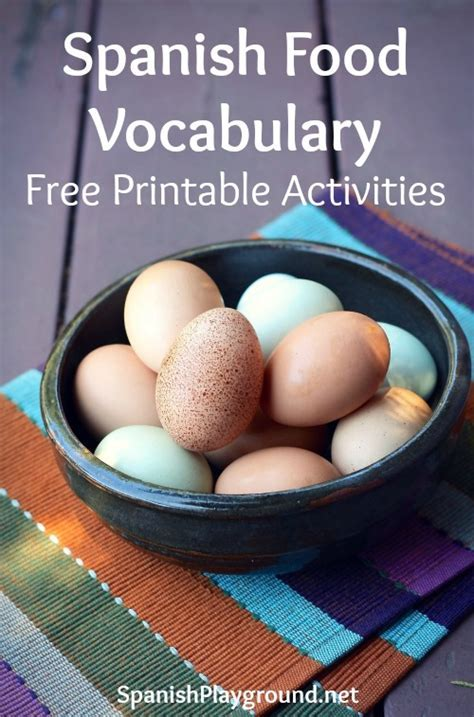 Spanish Food Vocabulary Printable Activities   Spanish