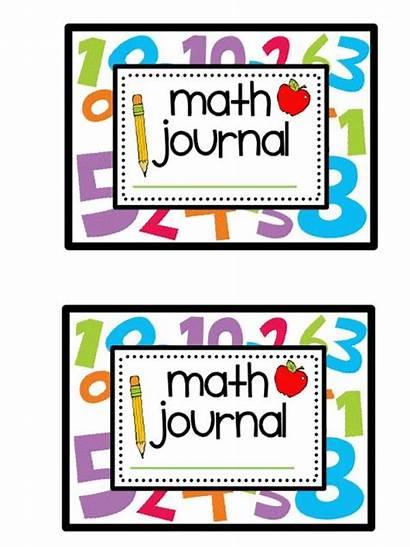 Math Journal Journals Kindergarten Printable Notebook Mathematics