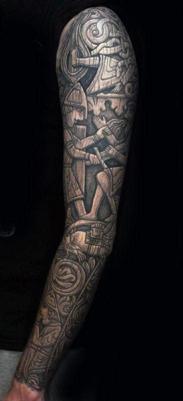 wood carving tattoo designs  men masculine ink ideas