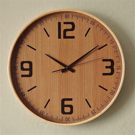 modern wooden clocks wood wall clock modern wall clocks by west elm