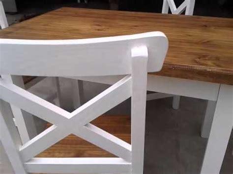 mesa  sillas de pino pintadas youtube