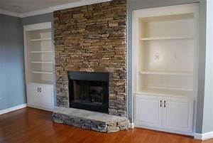 Stacked Stone Fireplace to Create Western Interior and