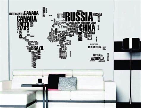 word world map vinyl wall sticker travel bible shop