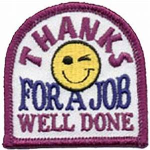 Thanks For A Job Well Done Embroidered Patch by E-Patches ...
