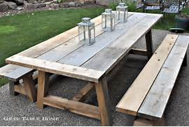 Make Outdoor Wood Table by Restoration Hardware Inspired Outdoor Table And Benches