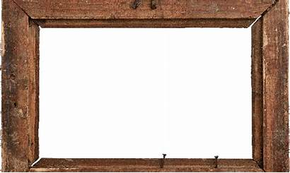 Clipart Frame Wood Rustic Transparent Wooden Square