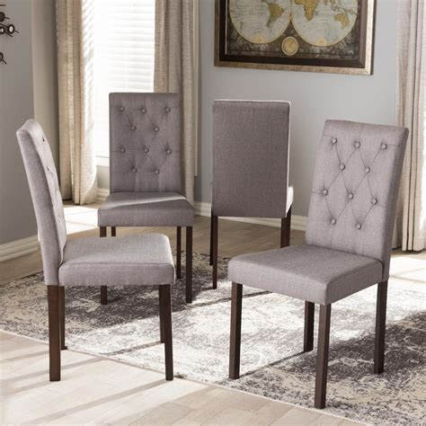 baxton studio gardner gray fabric upholstered dining
