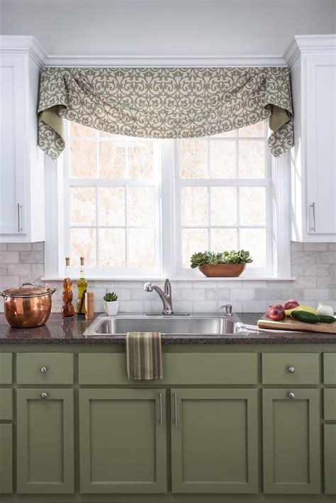 Kitchen Curtains Valances by Green Cabinets Kitchen Kitchen Window Valances