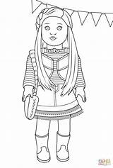 American Birthday Mckenna Coloring Pages Doll sketch template