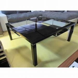 Table Salon Metal : table de salon m tal et verre magasin du meuble asiatique et chinois ~ Teatrodelosmanantiales.com Idées de Décoration