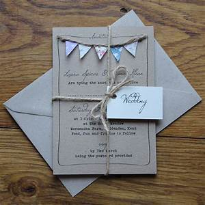 handmade bunting wedding invitations fully personalised With images of homemade wedding invitations