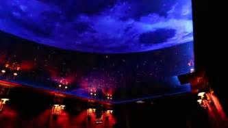 nigh sky moon and printed ceiling with led and fiber optic back light