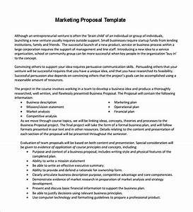 marketing proposal template 29 free sample example With how to write a marketing proposal letter