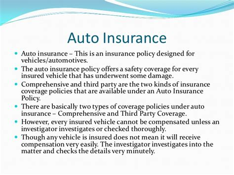 The best car insurance company will be different for every driver. Types of Insurance Policy