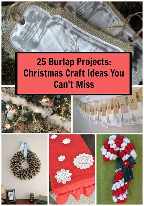 burlap projects christmas craft ideas