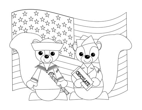 Veterans Day Thank You Coloring Page