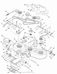 Murray 7800482 - Elt175460f  17 5hp 46 U0026quot  Hydro  2009  Parts Diagram For 46 U0026quot  Mower Deck