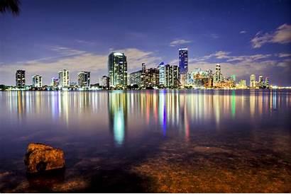 Miami Beach Wallpapers Skyline Florida Across Downtown