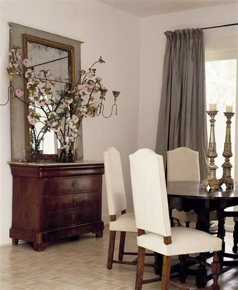 Diningrooms Arched Leaning Mirror Design Ideas