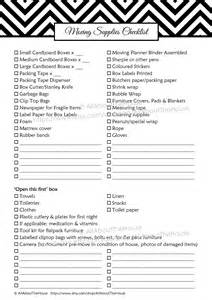 Moving Checklist Planner Printable