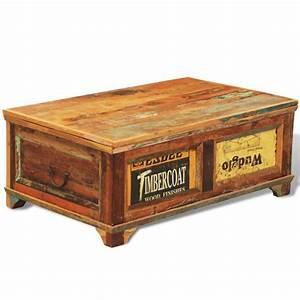 vintage reclaimed solid wood chest coffee table buy With antique solid wood coffee table