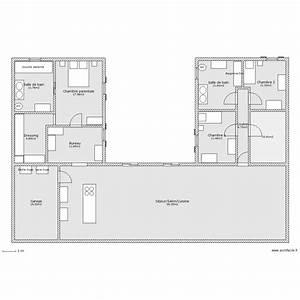 maison en u plan 11 pieces 220 m2 dessine par ludivine170411 With plan maison en forme de u
