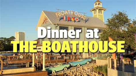 The Boathouse Dinner by Dinner At The Boathouse Disney Springs