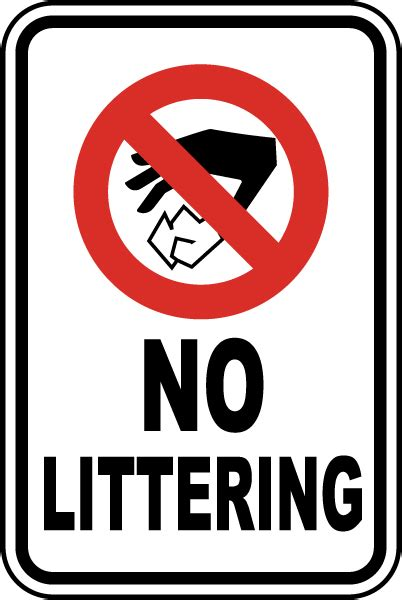No Littering Sign By Safetysigncom F2639