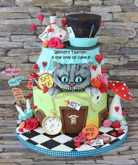 alice  wonderland cake pictures   images