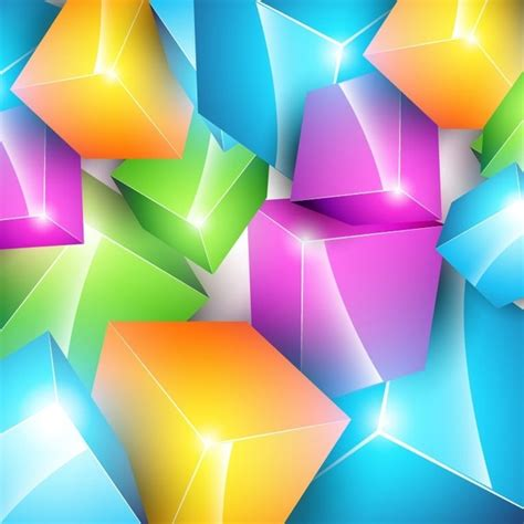 Vector Colorful Cube Background Free Vector In