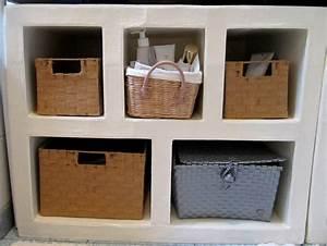 Etagere Sous Lavabo : meuble sous lavabo photo de etageres rangements so carton ~ Teatrodelosmanantiales.com Idées de Décoration