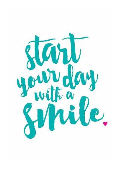 Smile Printable Friday Start Positive Enjoy Way