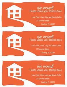 free change of address resume trakore document templates With change of address cards templates