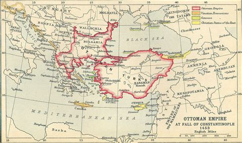 How Did The Ottoman Empire Fall - ottoman empire at fall of constantinople 1453 size