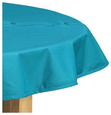Outdoor Vinyl Tablecloth With Umbrella by Teal Umbrella Tablecloth Modern Outdoor Products
