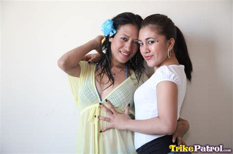 Two Cute Lesbian Filipinas Jill And Ashley Join Lucky