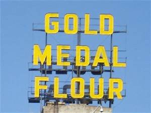 Gold Medal Flour Minneapolis MN Neon Signs on