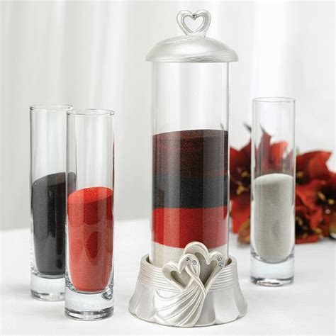 Unity Sand Vases With Lids by Linked Hearts Unity Sand Ceremony Set