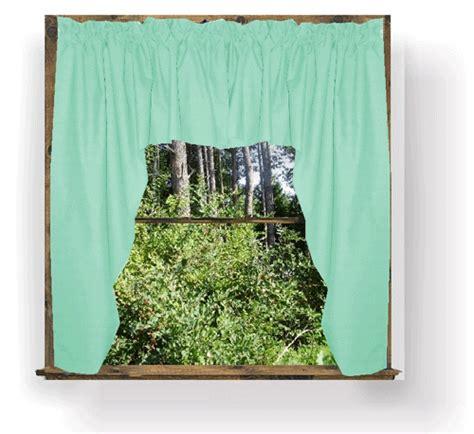 mint green swag window valance set