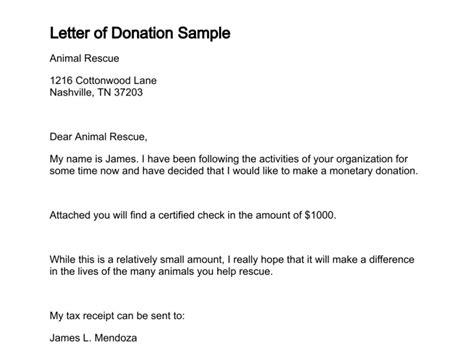sample letter giving  donation sample business letter