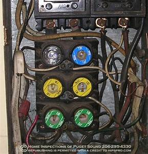 Overloaded Fuse Box  Multiple Tapping And Knob And Tube