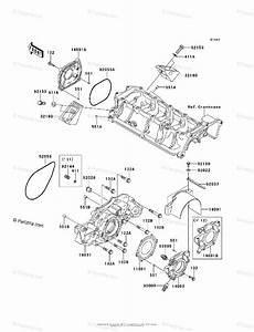 Kawasaki Jet Ski 2012 Oem Parts Diagram For Engine Cover S
