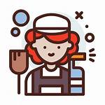 Cleaning Lady Icon Icons