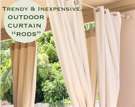 trendy inexpensive outdoor curtain quot rods quot retro