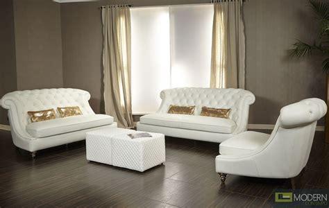 maya bellami damario tufted leather pc sofa set