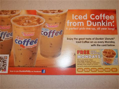 Dunkin' donuts is brewing up plenty of joy by handing out free medium hot coffees at select locations now until dec. One Day at a Time Mama: Dunkin Donuts~ FREE Iced Coffee Mondays!!